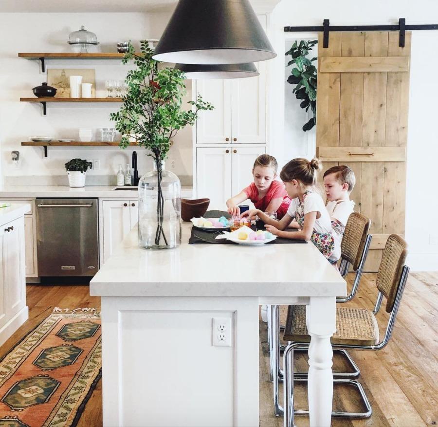 Home Tour- Gorgeous White Kitchen