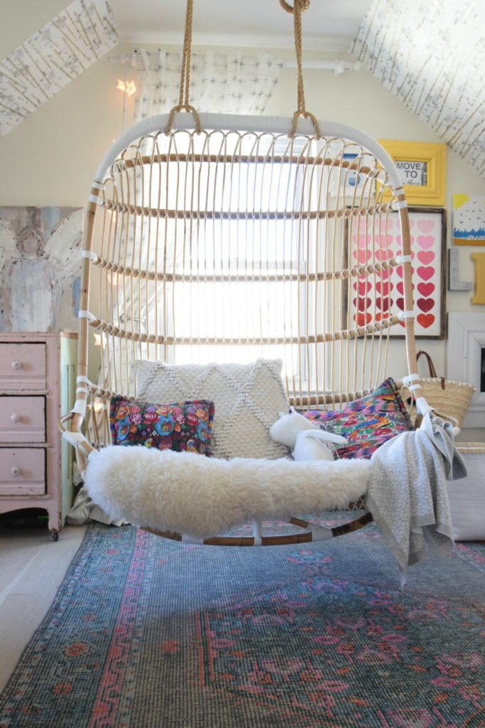 Double Hanging Chair- Eclectic Beach Home