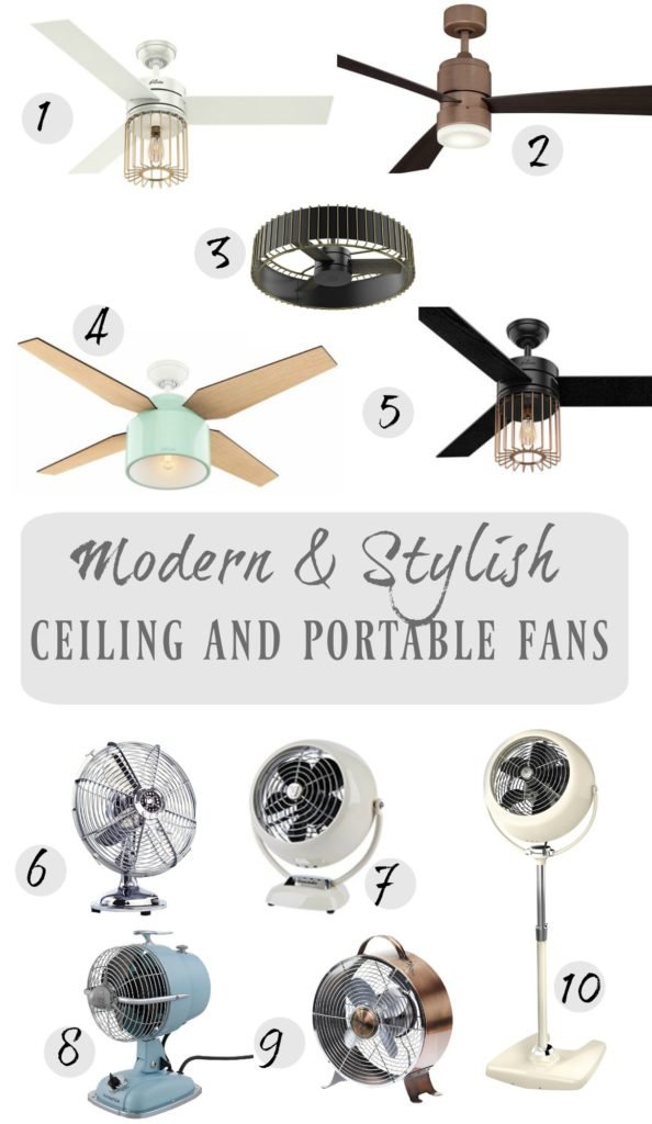 10 Modern and Stylish Ceiling Fans and Portable Fans