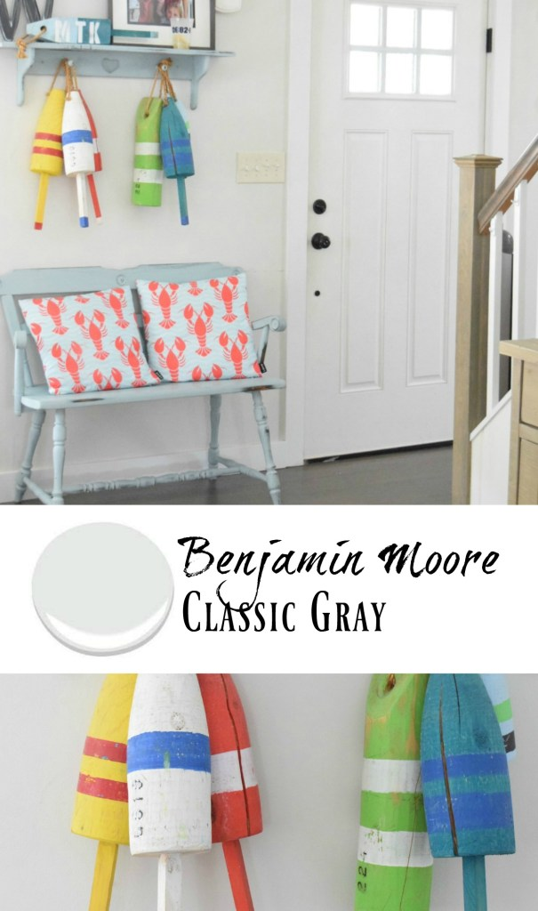 New England Home- Kitchen Tour- Paint Benjamin Moore- Classic Gray Paint