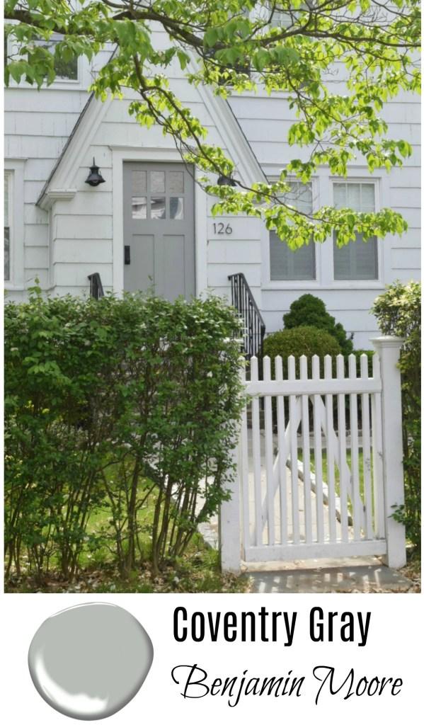 Coventry Gray- Benjamin Moore- Front Door Gray Paint Ideas