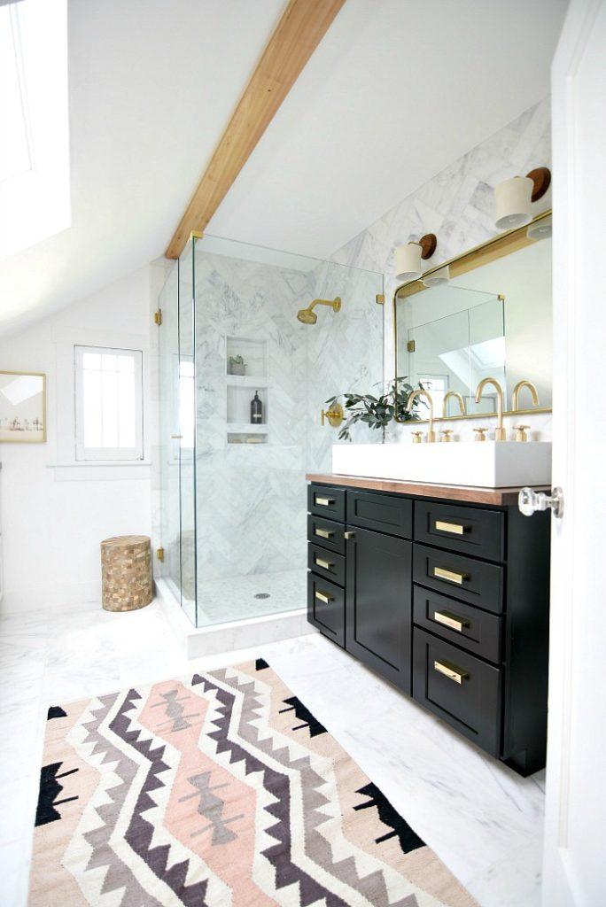 Friday Favorites- Bathroom Remodel- Marble Shower