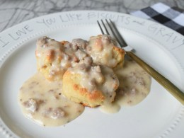 Biscuits and Gravy- Family Recipe and Paleo Version