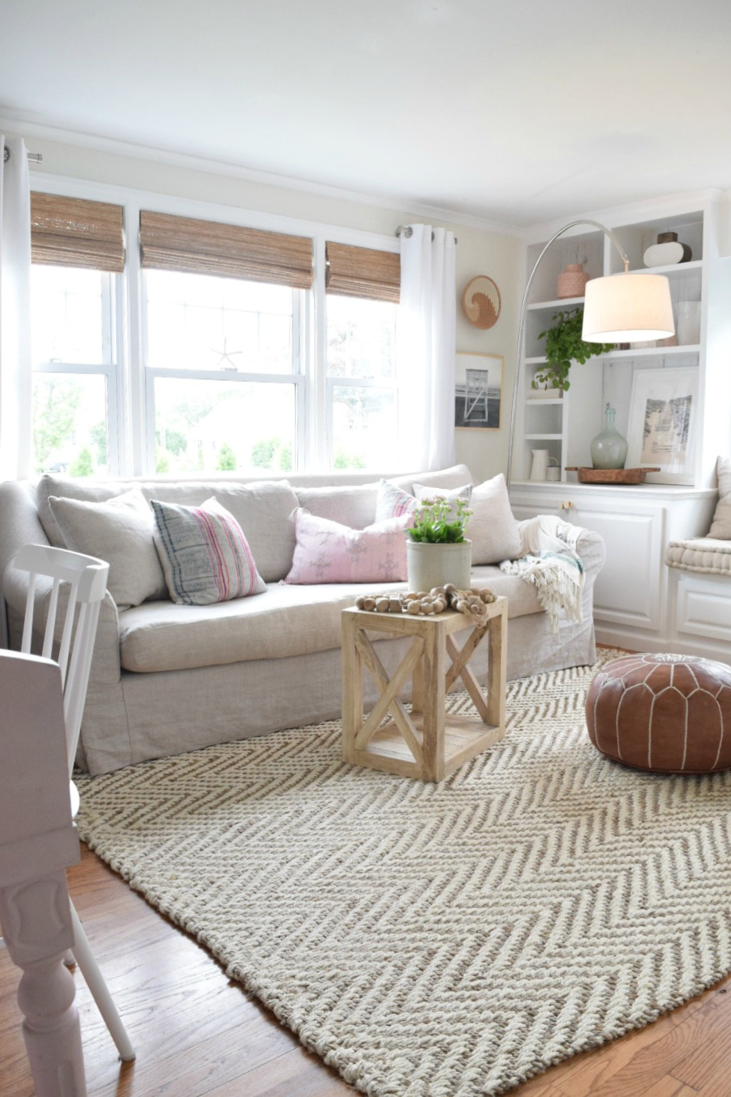 Jute rug review in our living room nesting with grace How to buy an area rug for living room