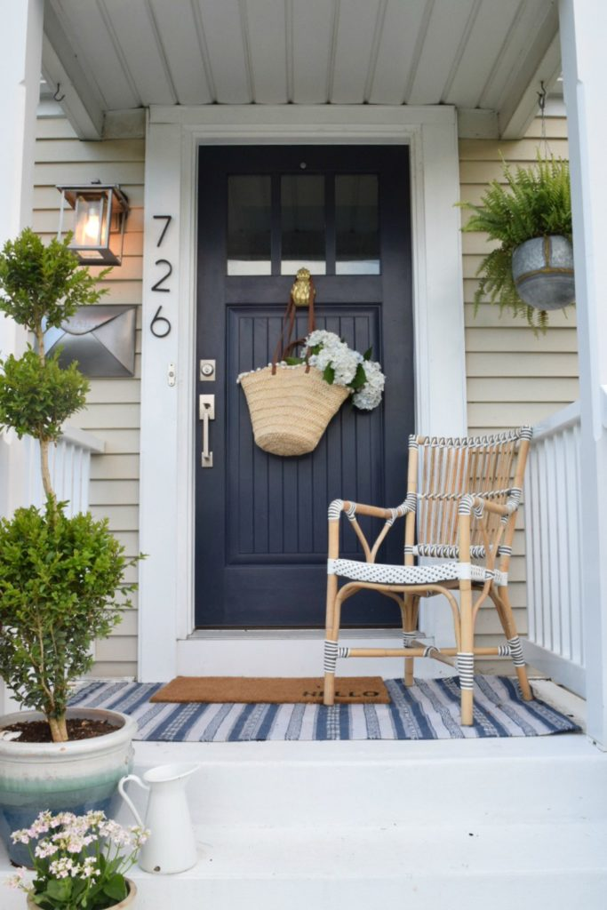 Front Door Ideas- Layered look on front porch