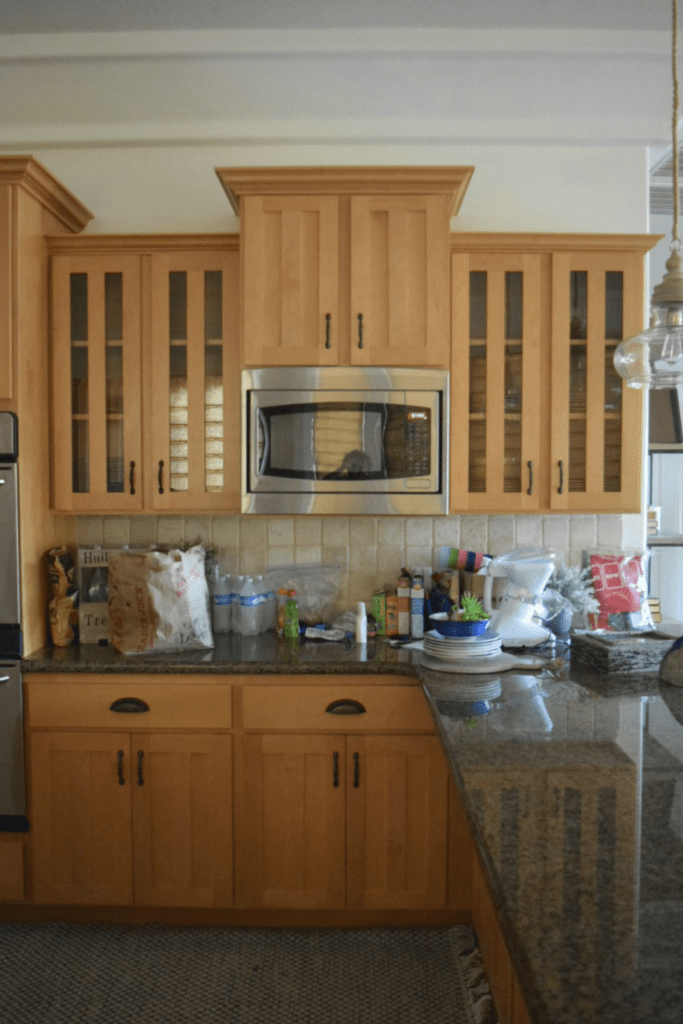 Before Photo- Kitchen Cabinets Update- Simple Ways to Update a Dated Kitchen