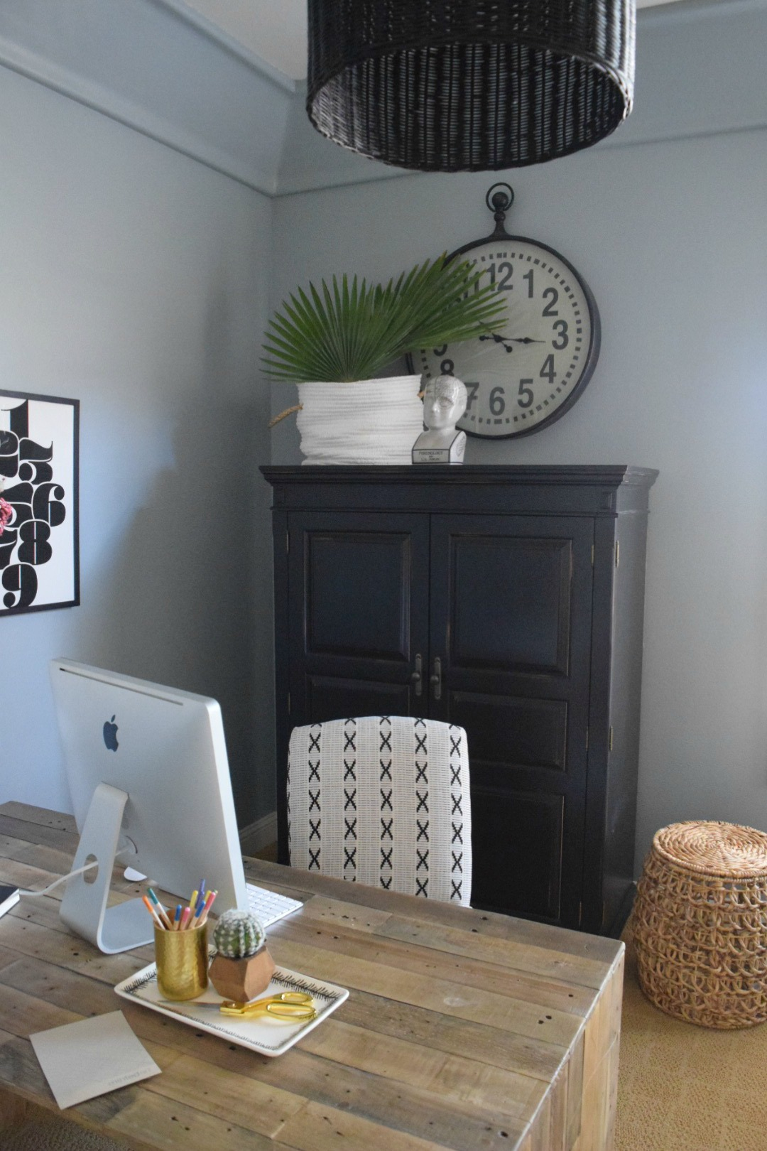 Home Office And Gallery Wall Ideas  Paint Boothbay Gray