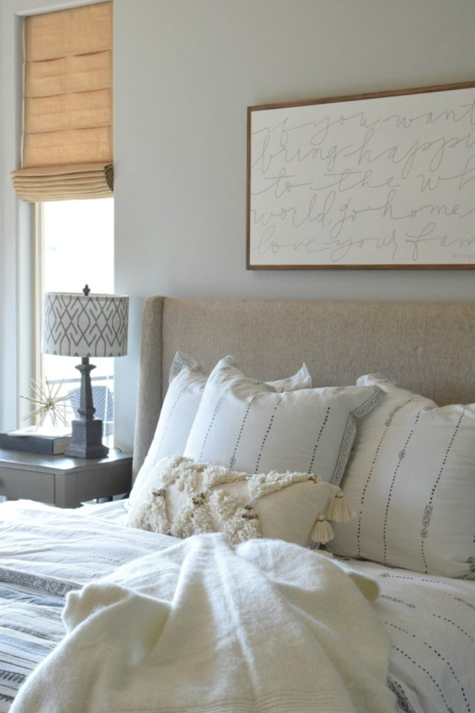 Master Bedroom Refresh Painted in Light Gray