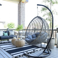 Patio Hanging Chair White Wicker Rocking Chairs Outdoor And Living Space With