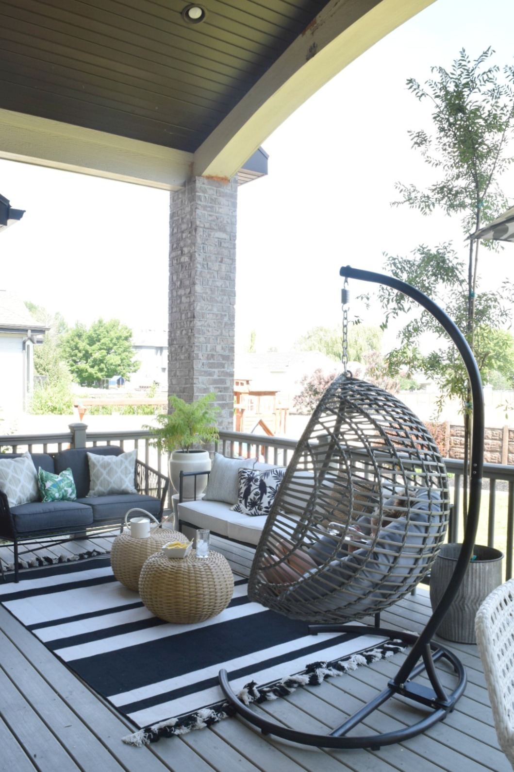 Hanging Patio Chair Outdoor Patio And Living Space With Hanging Chair Nesting With Grace