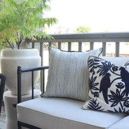Outdoor Patio and Living Space with Hanging Chair