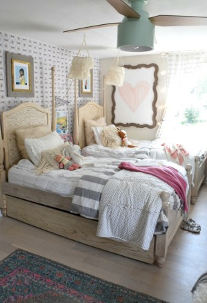 bedroom wall accent shared bedrooms nestingwithgrace again teen designs rooms inspiration beds decor hanging