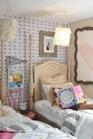 bedroom wall accent shared beds twin grace again nestingwithgrace