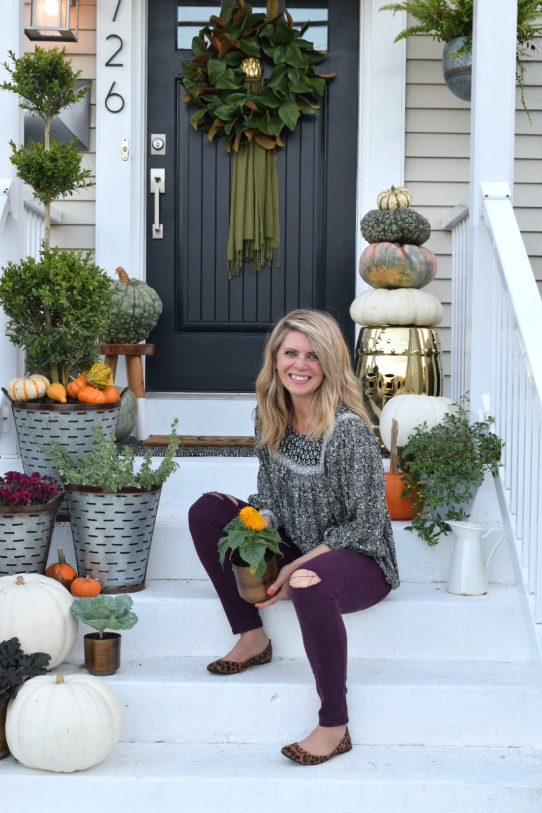Fall Front Porch Outside Our Little Cape Nesting With Grace