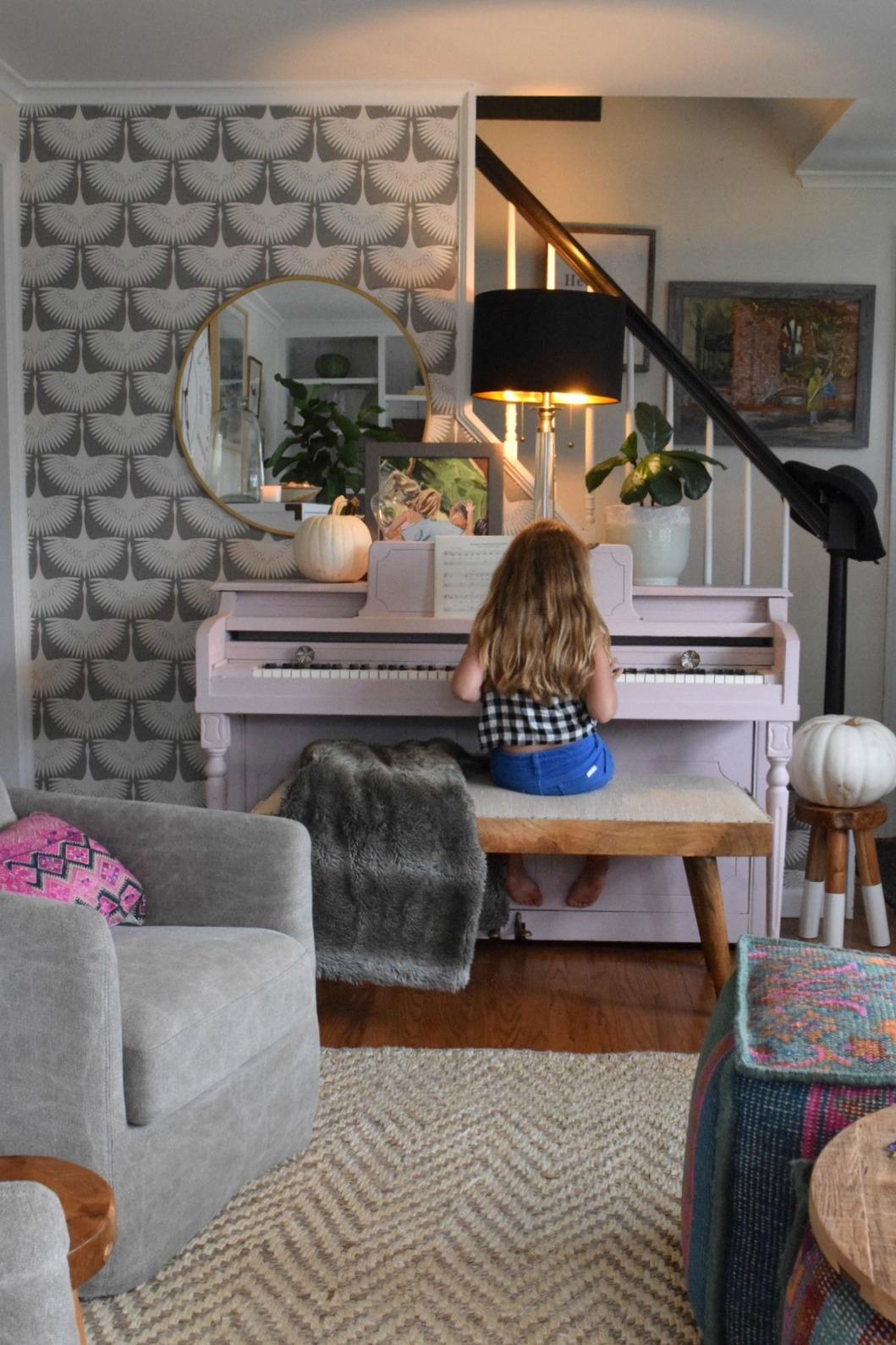 Fall Decor- Family Room Ideas in a Small Cape