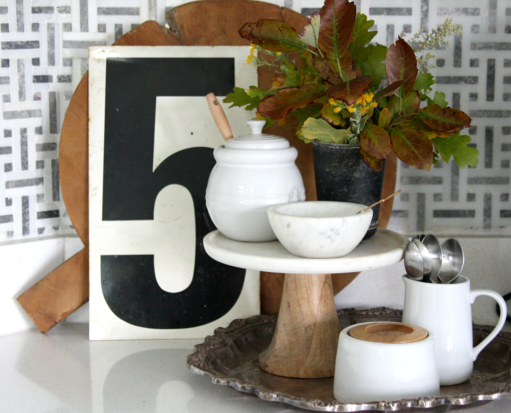 Fall Inspired Kitchen- Simple Fall Decor