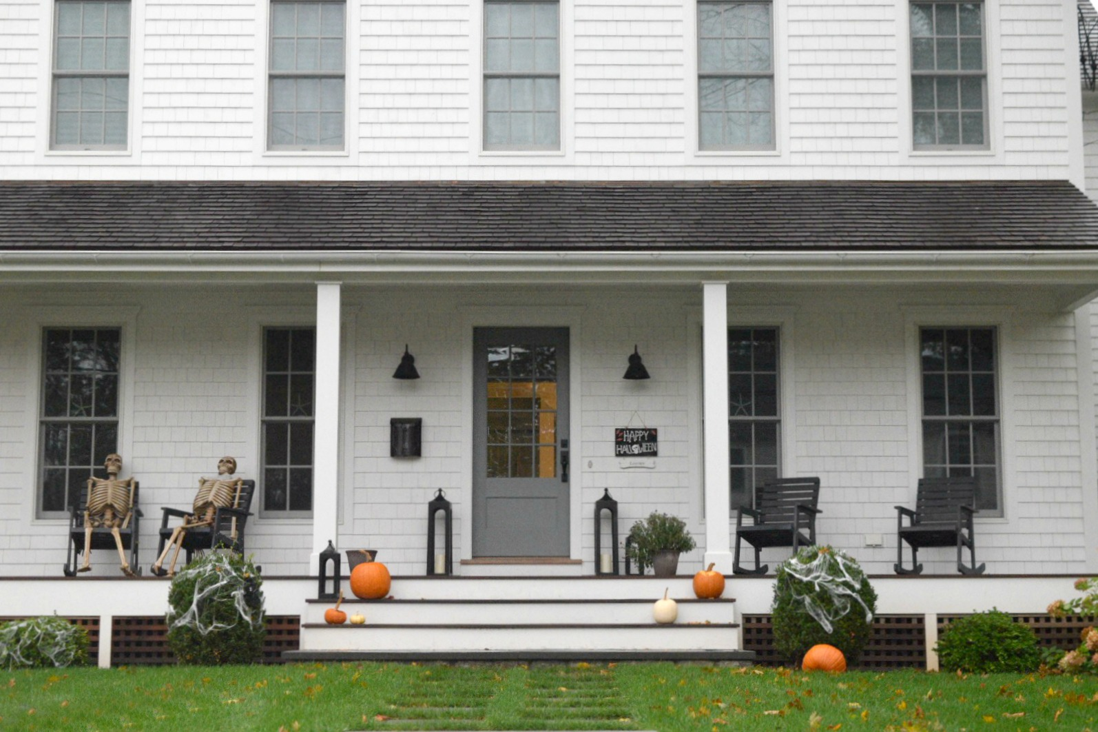 Halloween Decorations Outside Tour Of Fall Porches