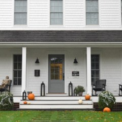 Halloween Decorations Outside, Tour of Fall Porches