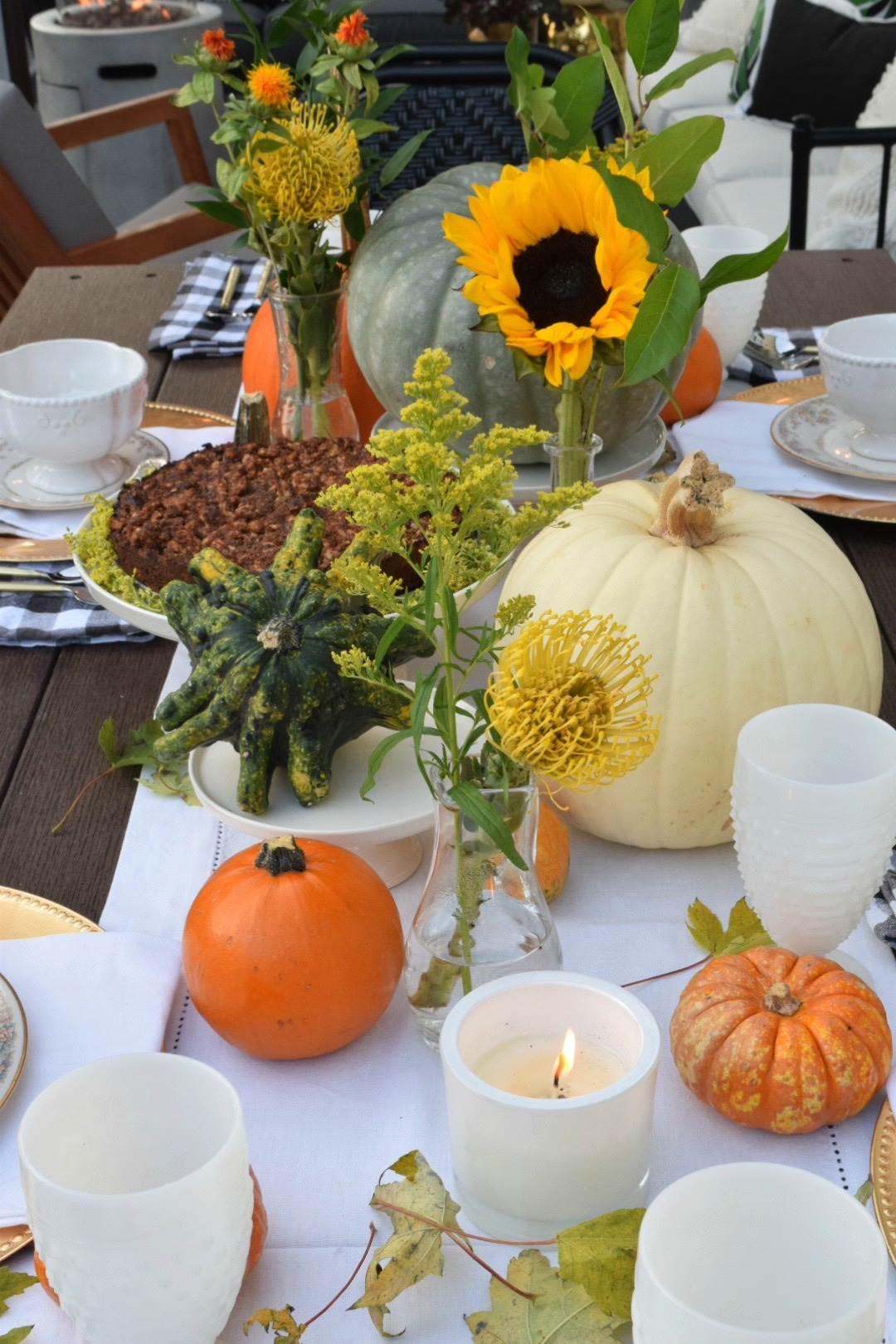 Fall Table Setting- Using What You Have - Nesting With Grace
