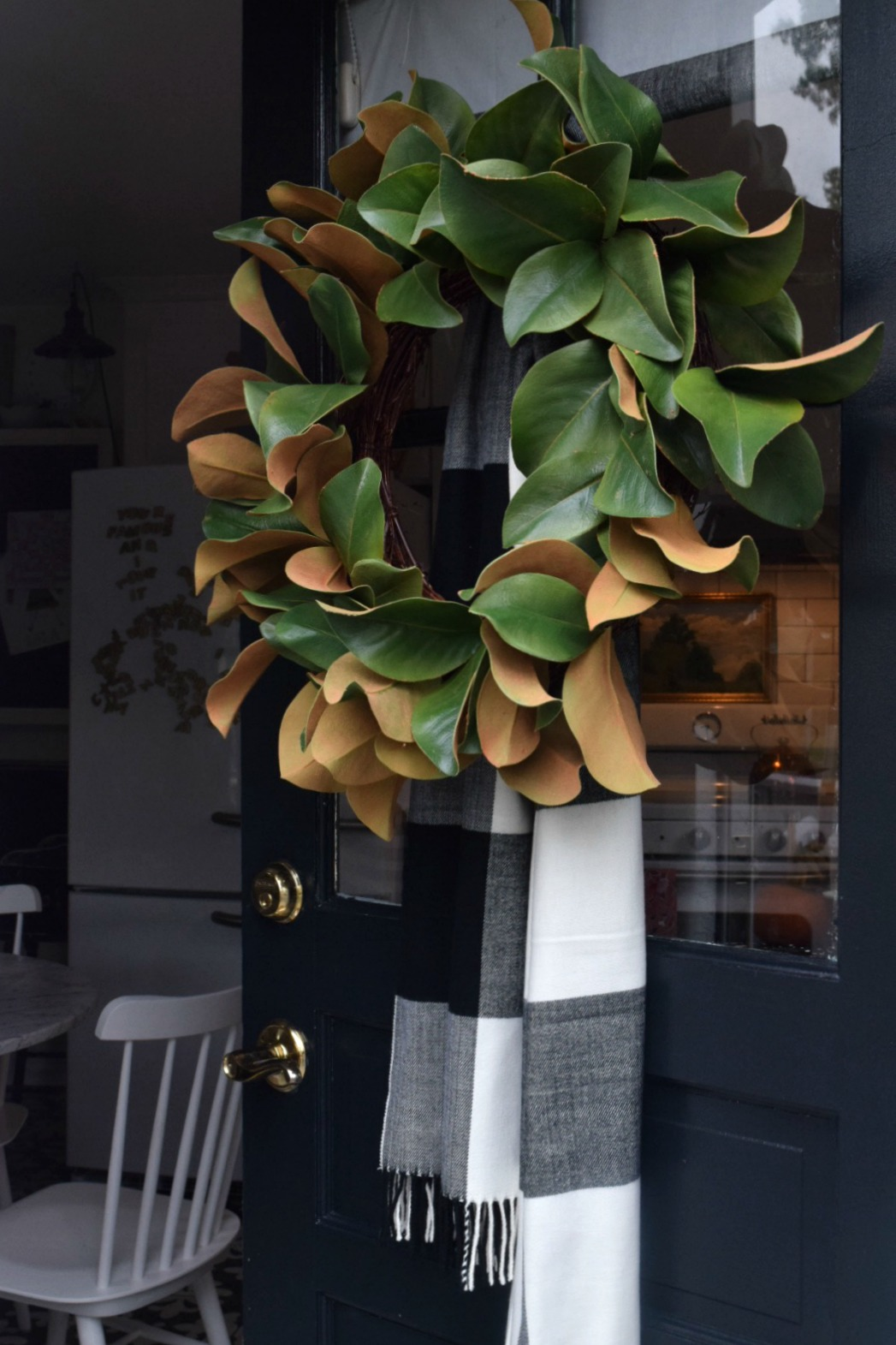 Fall Wreath- Unique Idea with a Scarf instead of Ribbon