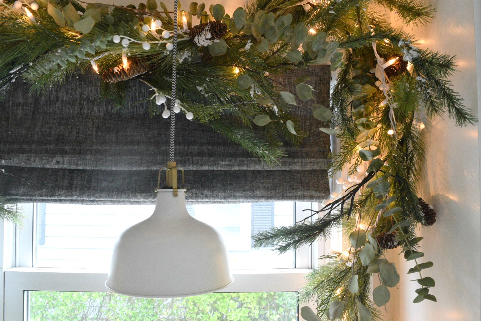 Christmas in our Small Kitchen- Started with Garland