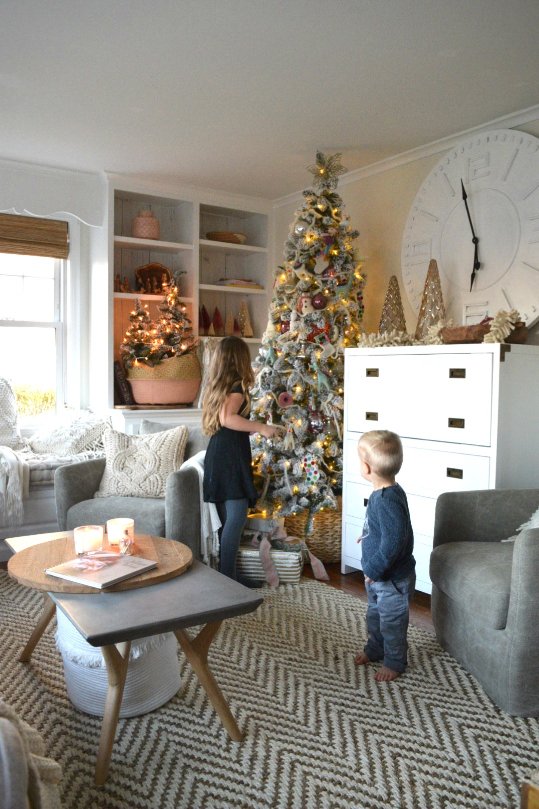 Christmas Tree Living Room Ideas.Christmas Tree In Our Small Family Room Nesting With Grace