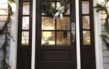 Christmas Decor Ouside- Layerd Doormat Ideas
