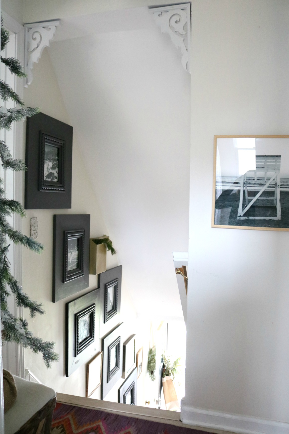 \My Experience with Milk Paint on Frames up the Stairs