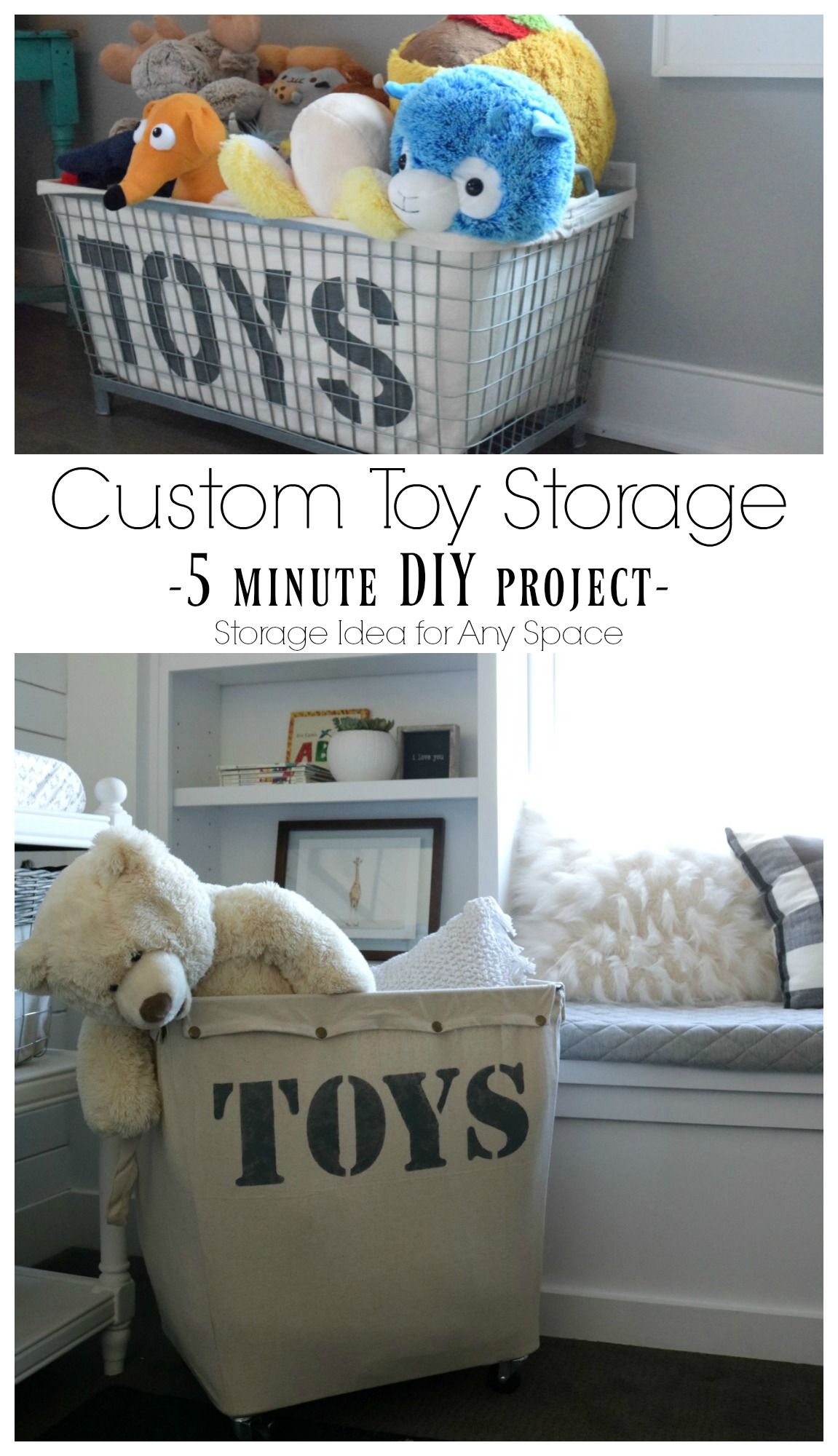 Custom Toy Storage Solution- 5 Minute Project