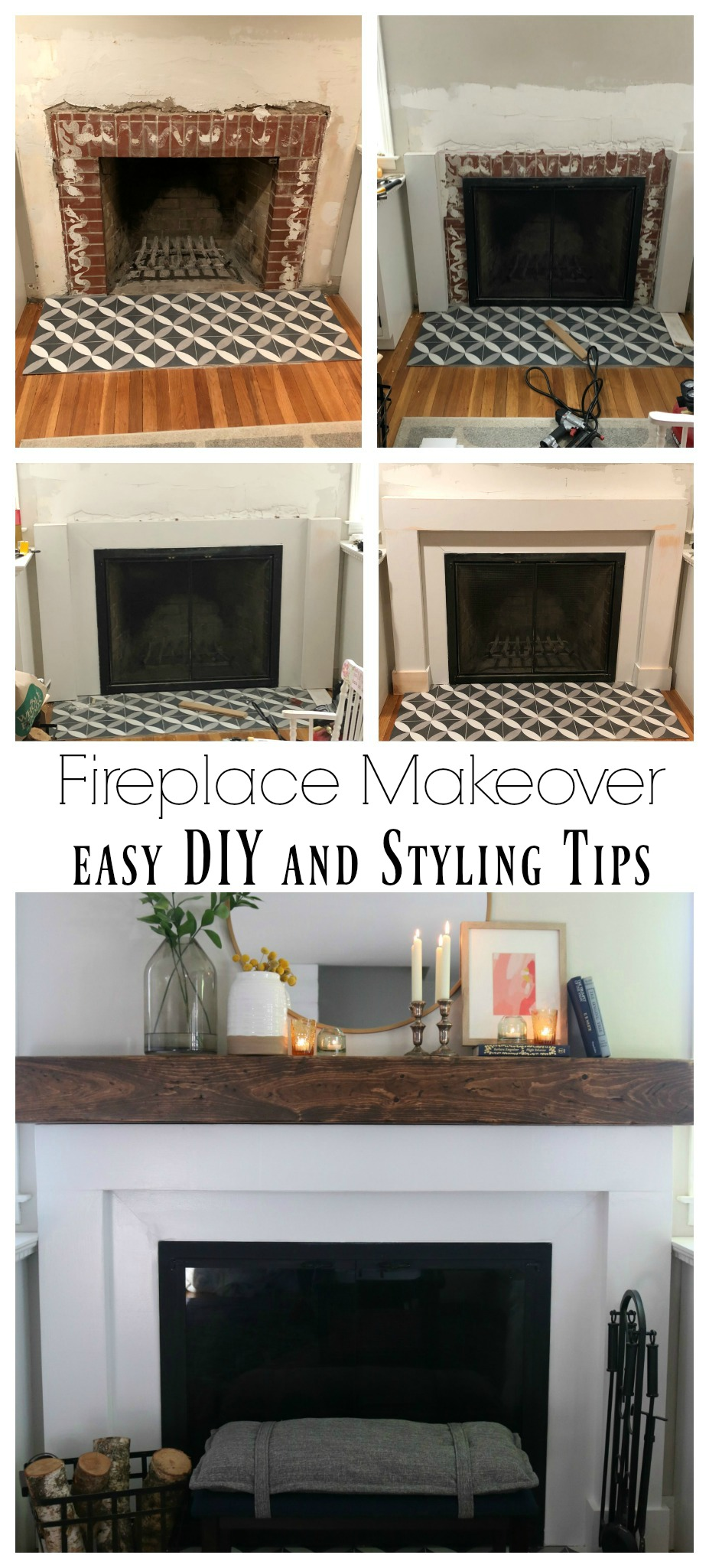 Fireplace Makeover- DIY and Target Decor