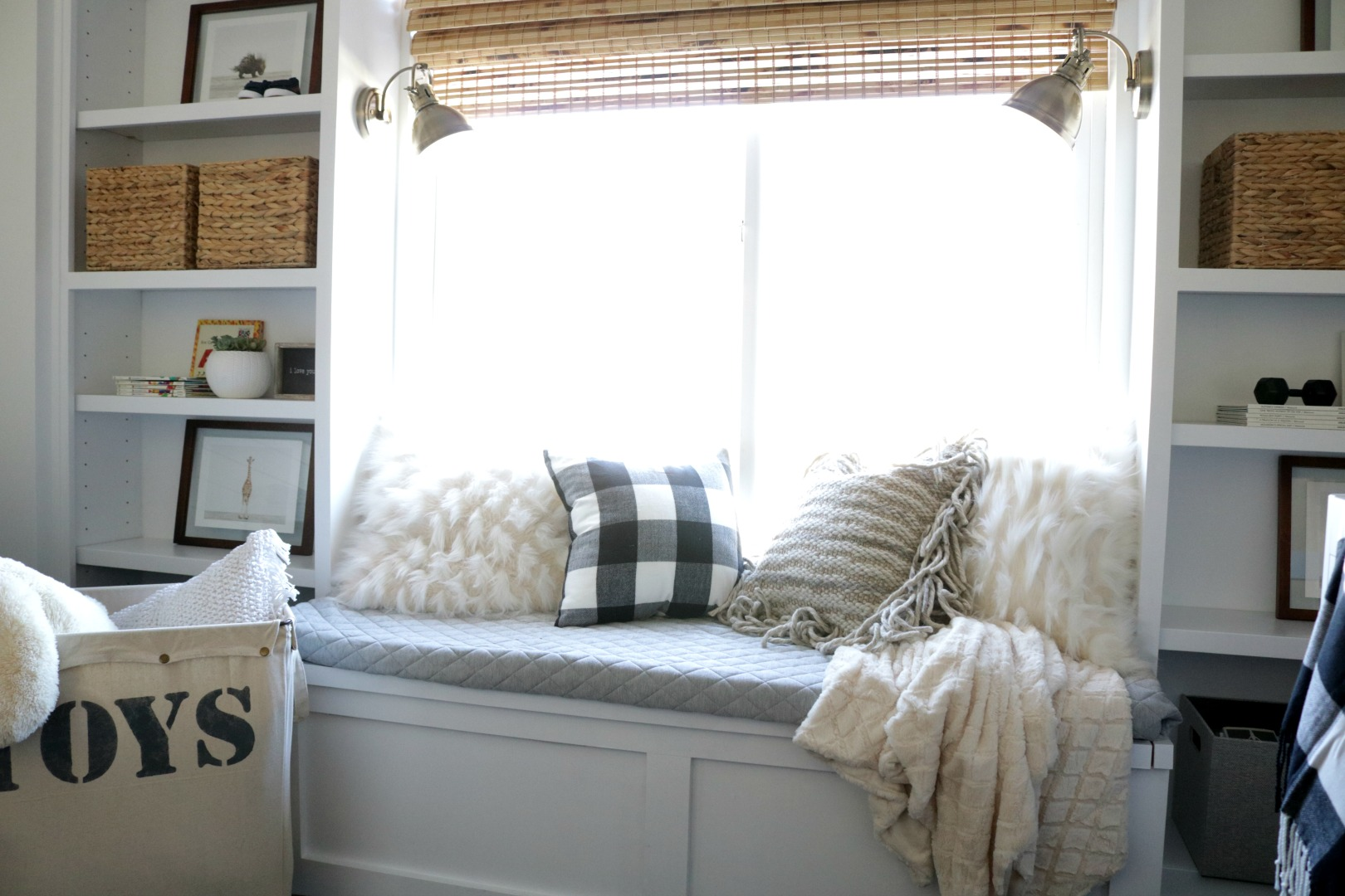 Good Window Seat Part - 6: Window Seat And Built-In Bookcase DIY Under $150