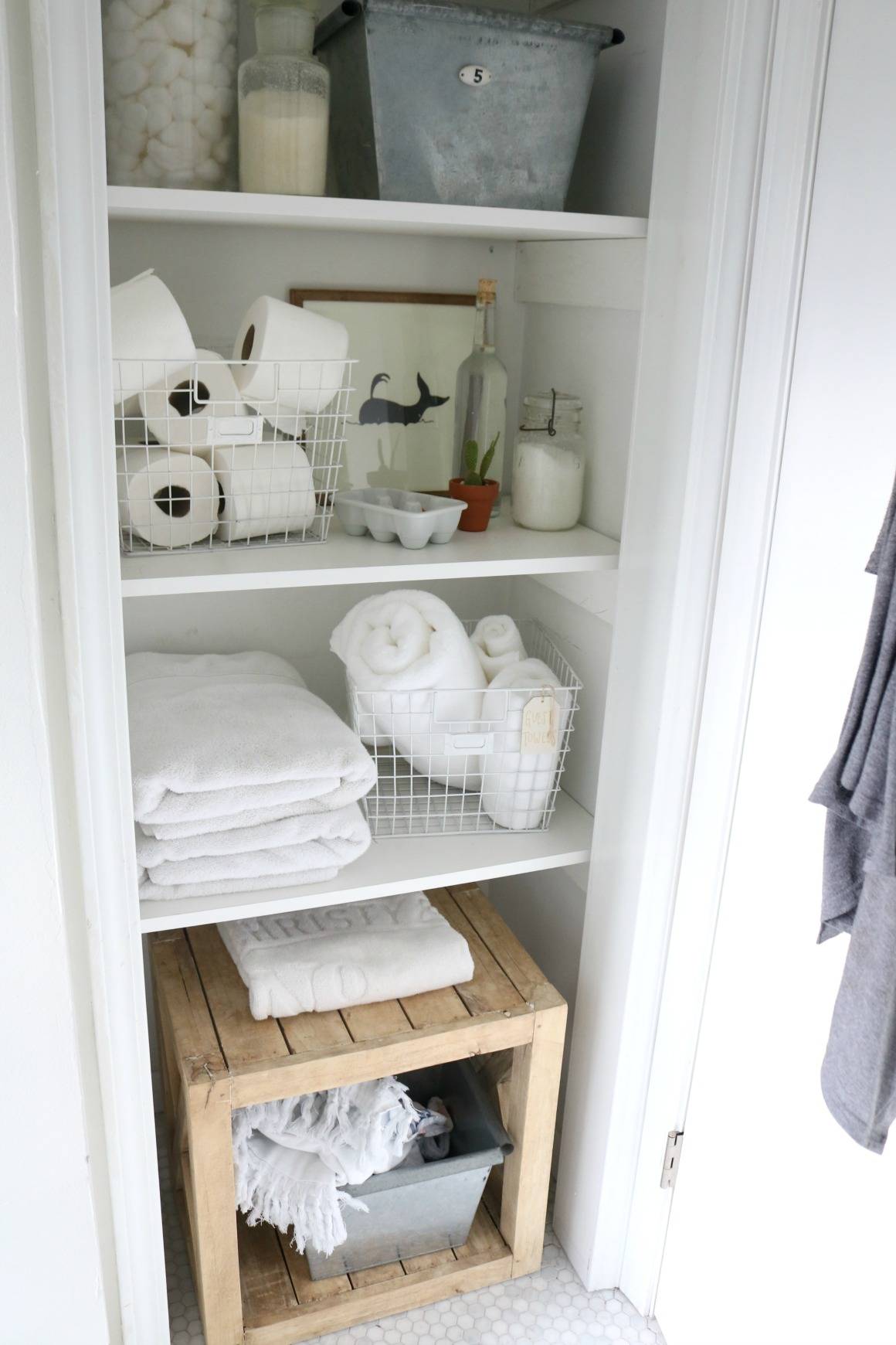 Bathroom Closet Idea- Storage Solutions