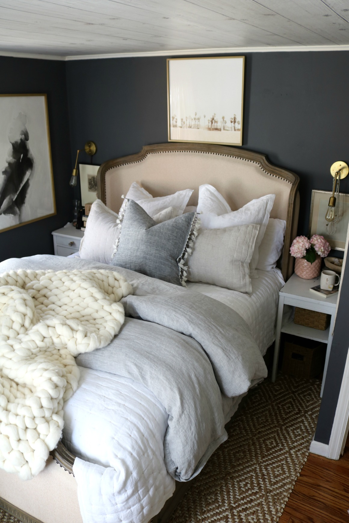 How to Make your Bedding Fluffy and our new Bedding - Nesting With Grace
