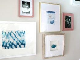 Gallery Wall Tips- Photos up the Staircase