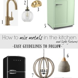 How to Mix Metals in the Kitchen and our Kitchen Faucet