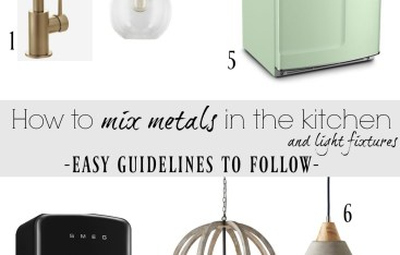 How to Mix Metals and Light Fixtures in the Kitchen