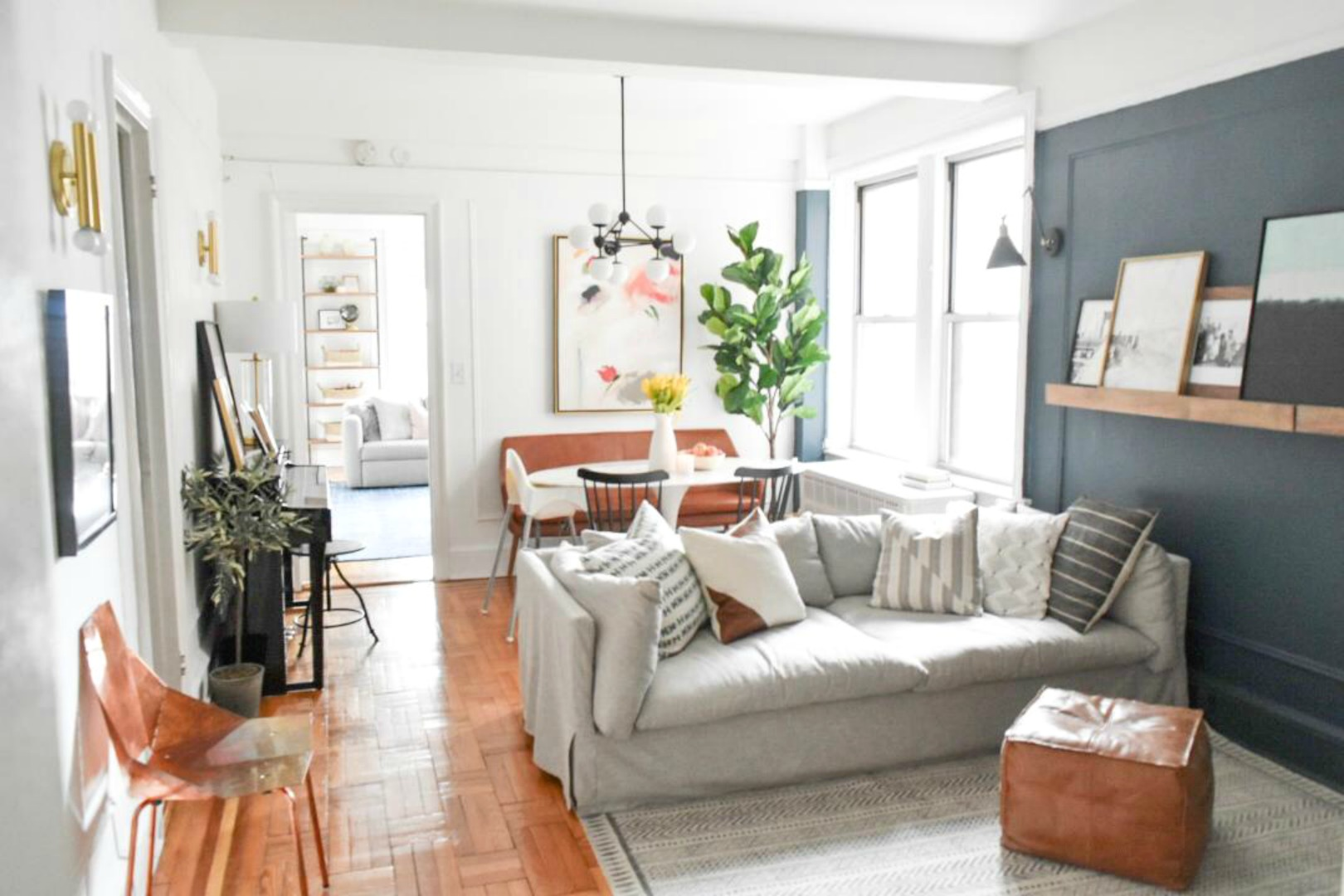 Small Space Living Series New York City Apartment With Crystal Ann Interiors Nesting With Grace