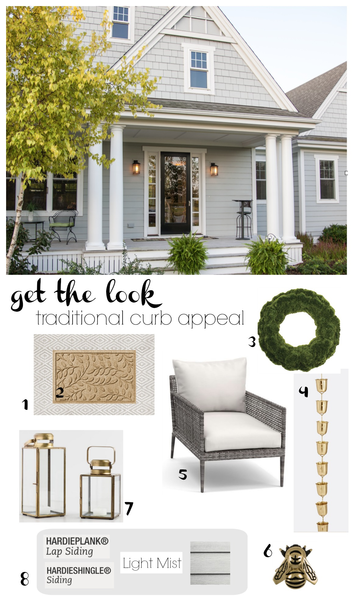 Get the Look- Traditional Curb Appeal- Arctic White