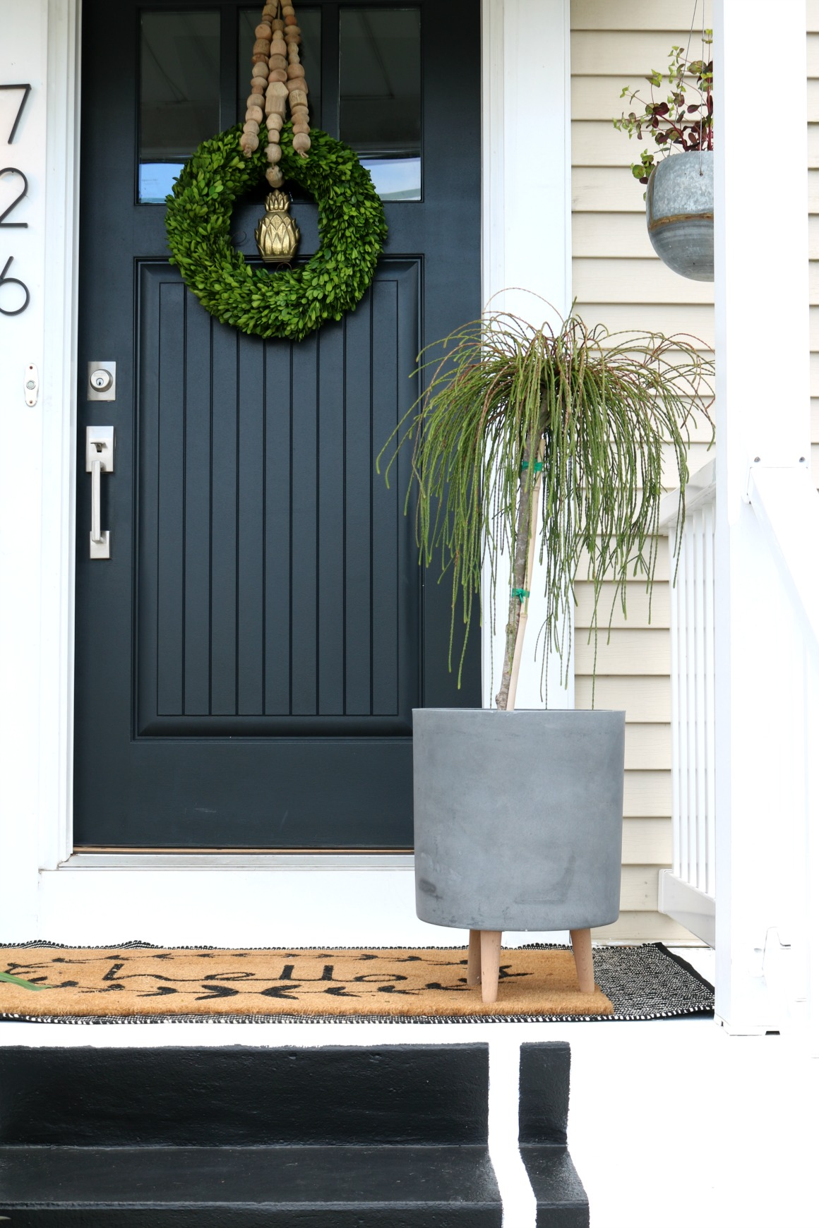 Front Porch Spring Reveal With Painted Steps Nesting