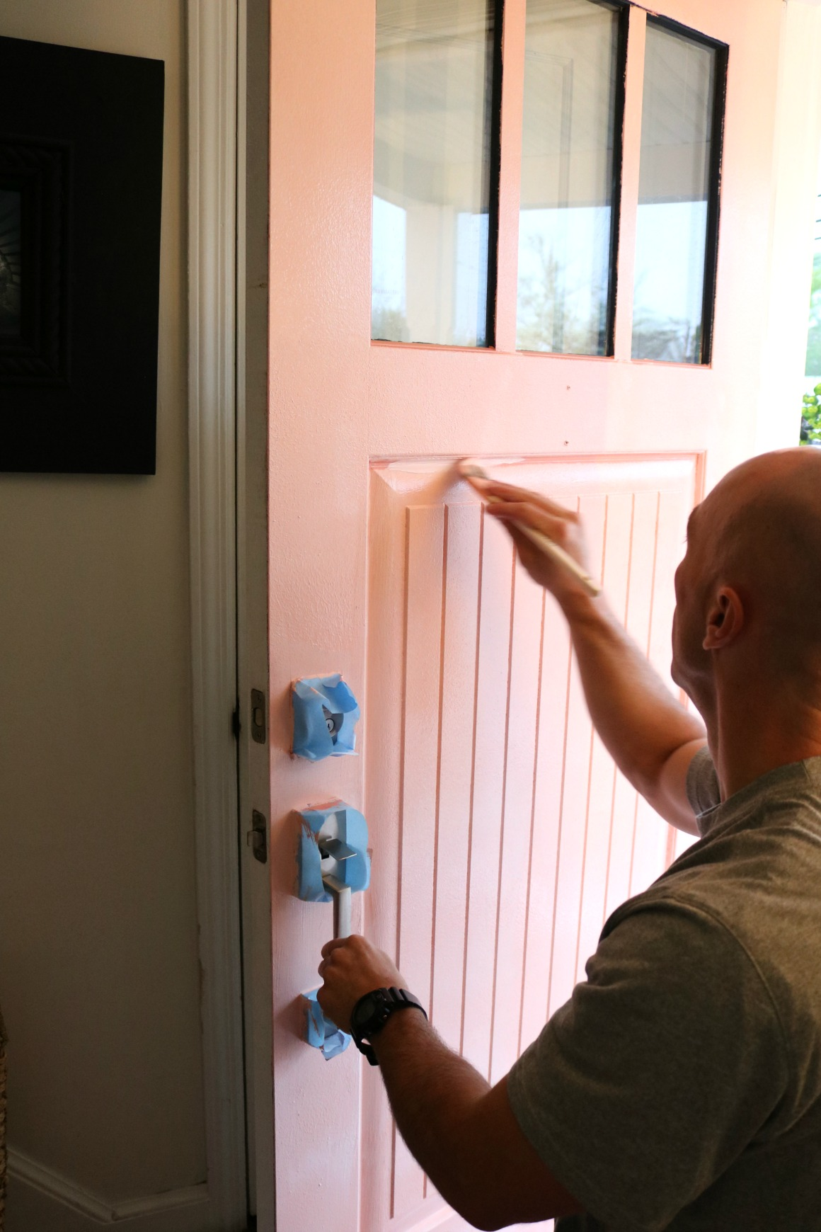 Painted Front Door Tips And Our New Pink Door Nesting