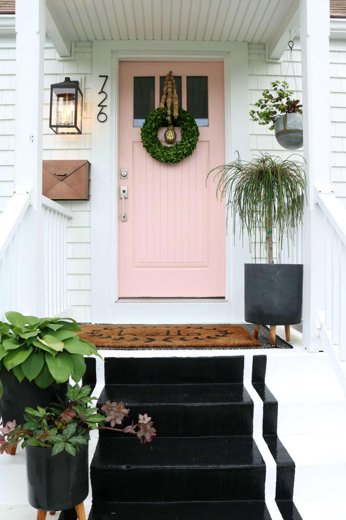 Painting Tips For Front Door  Pink Front Door In Coral Perfection