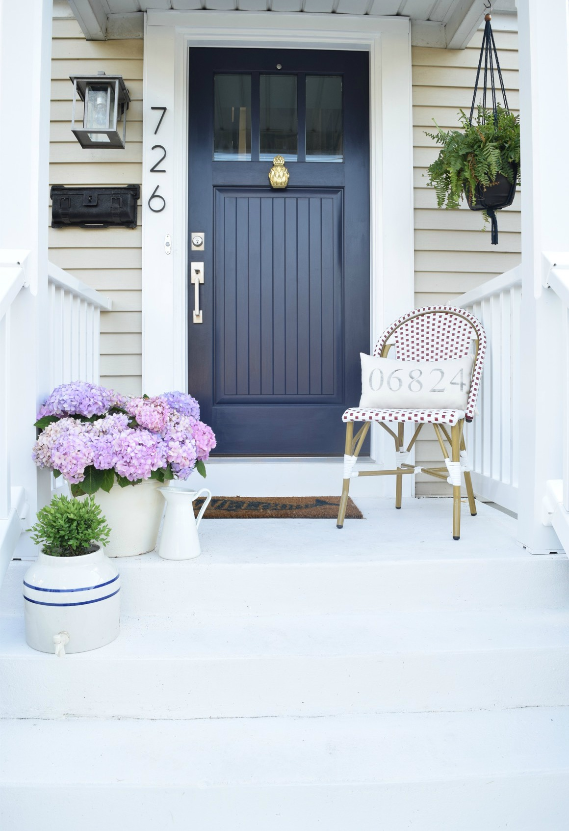 Dark Grey House Exterior White Trim Curb Appeal