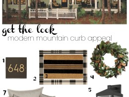 Get the Look- Modern Mountian Curb Appeal- Heathered Moss and Mountain Sage