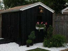 Black Shed with Magic Light Trick