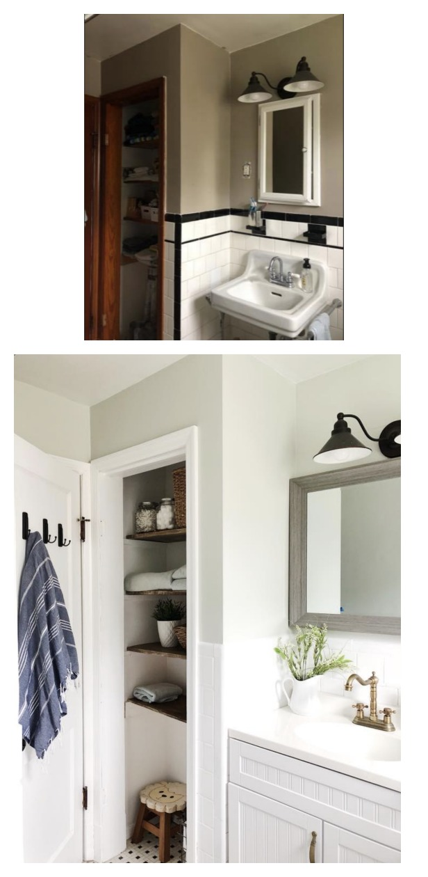 Before and After- Bathroom Makeover