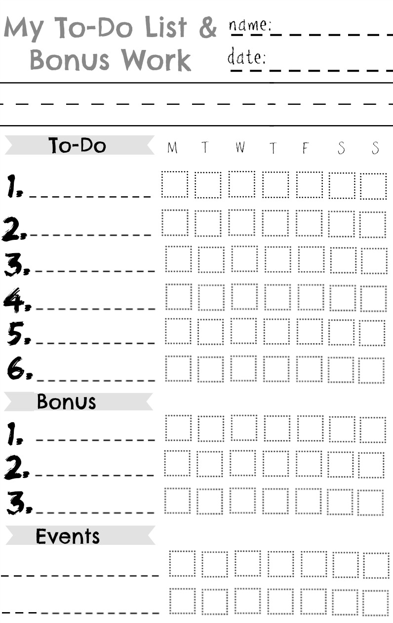Kids Chore Chart  Great for a Summer Chart   Nesting With Grace