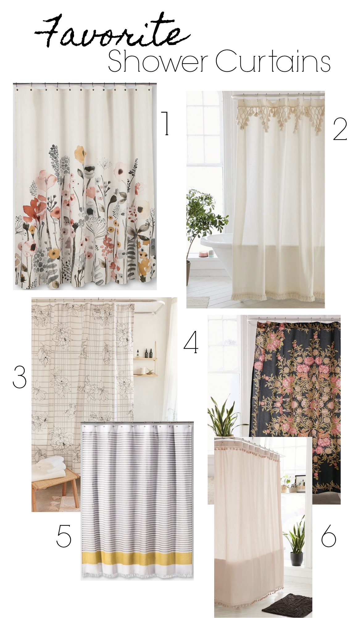 Favorite Shower Curtains- Affordable