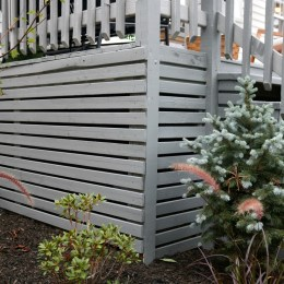Deck- Switching from Lattice to Slats and  How we Clean our Deck