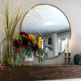 Fall Fireplace Styling and Floral Arranging Tips
