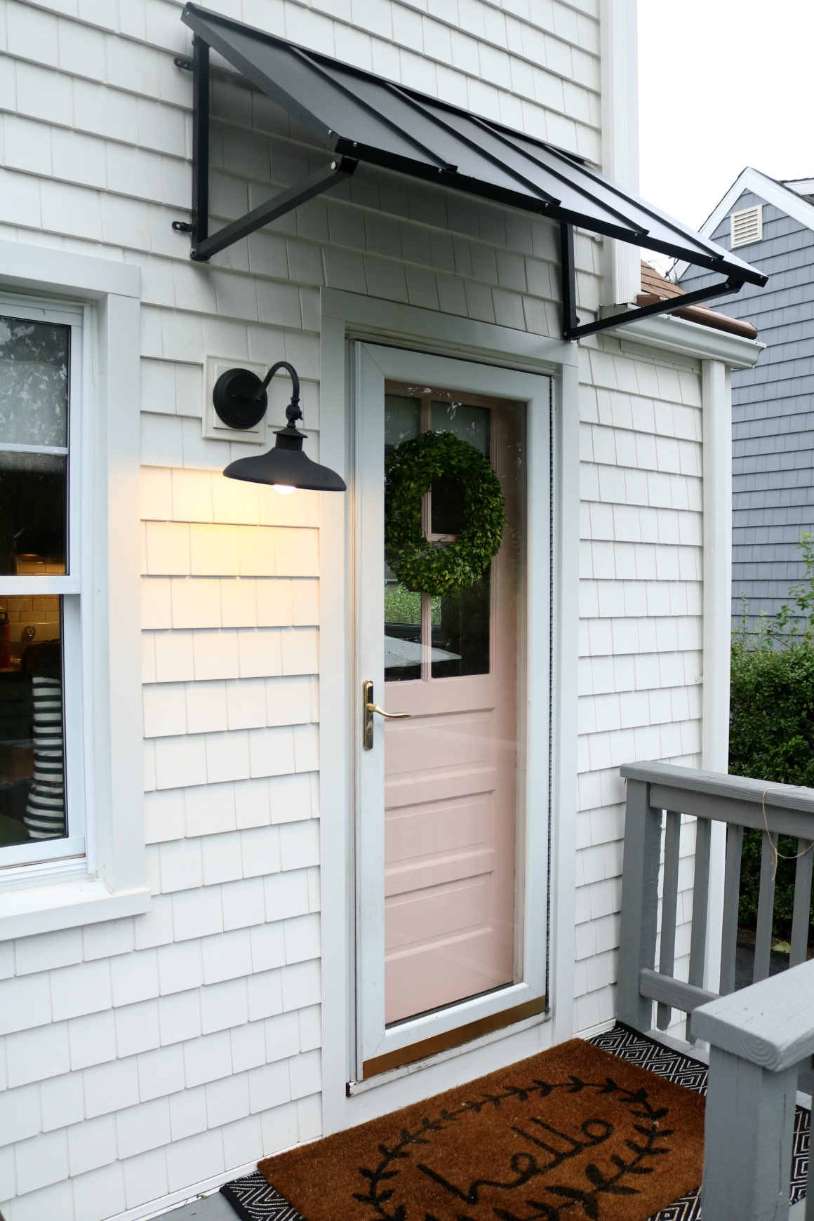 Friday Favorites Porches- Awning and Fall Doormats - Nesting